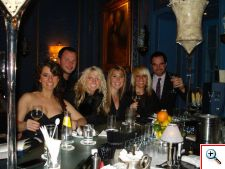 Jill, Nick, Amber, Kristal, Jenny, Joe at Blaue Bar
