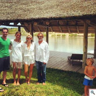 Our wakeboarding crew: Joe, Catalina, Jenny & Tomas