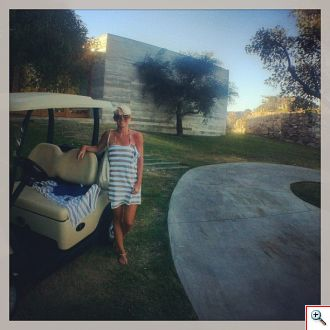Jenny's golf cart at Fasano