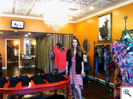Amy Kirchen in her boutique in Milford, Ohio