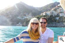 Jenny & Joe on the boat