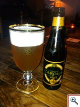 Carolus Beer at Cafe Rose Red bar in Bruges