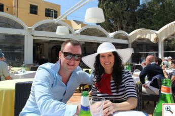 Nick and Jill at Villa Verde in Capri