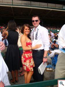 Jill & Nick enjoying the races at Keeneland