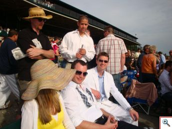 Nick and Mike Hube at Keeneland in 2009