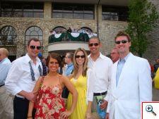 Nick, Jill, Sarah, Josh and Mike in Keeneland 2009