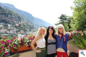 Amber, Jenny & Jill at Domina Home Royal in Positano