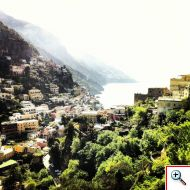 View from Domina Home Royal in Positano