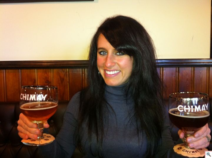 Jill double-fisting Chimay