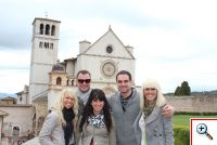 Amber, Nick, Jill, Joe and Jenny in Assisi, Italy