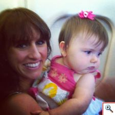 Jill & Elinor on a plane to Florida in July 2013