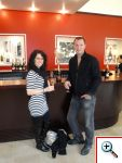 Jill and Nick in the Mumm Tasting Room in Reims