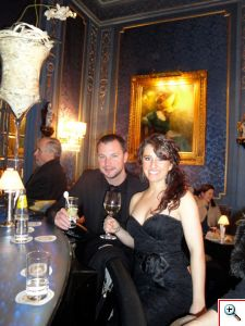 Nick and Jill enjoying the Blaue Bar