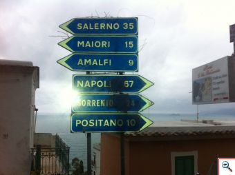 Directional Signage to Positano