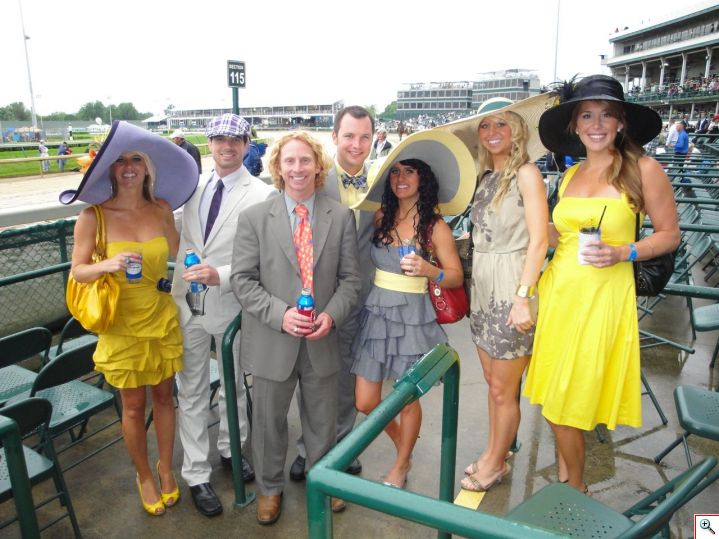 Our group of friends at the Derby in 2010