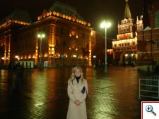 Julie near the Resurrection Gate - the main entrance to Red Square